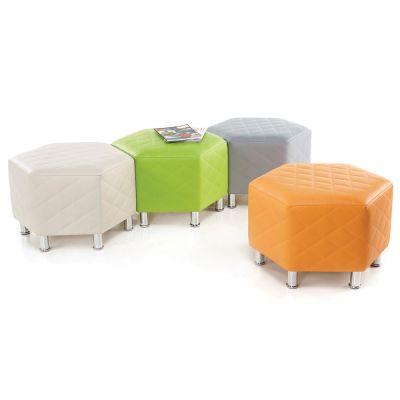 Hexagonal Quilted Seating-Wipe Clean Vinyl