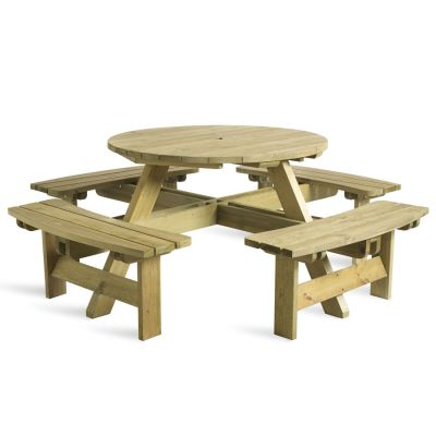 King Round Picnic Table