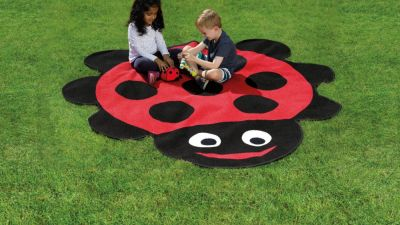 Ladybird Shaped Outdoor Mat