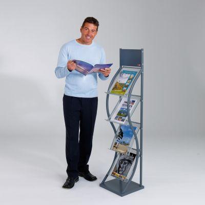 Wave Freestanding Leaflet Dispenser
