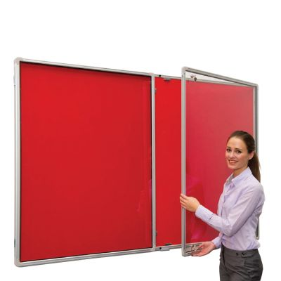 Lockable Flameshield (Class 0) Side Hinged Noticeboards