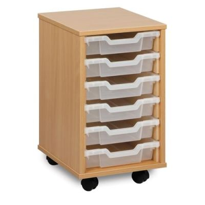 6 Shallow Tray Mobile Storage Unit