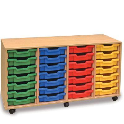 28 Shallow Tray Storage Unit