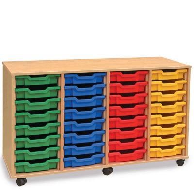 32 Shallow Tray Storage Unit