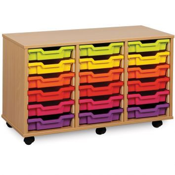 18 Shallow Tray Mobile Storage Unit
