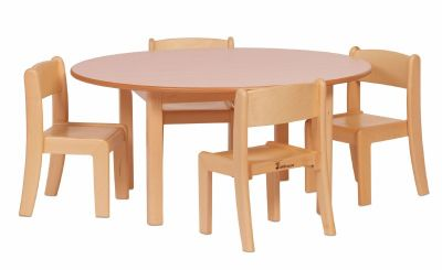 Millhouse Circular Wooden Table & Chair Sets