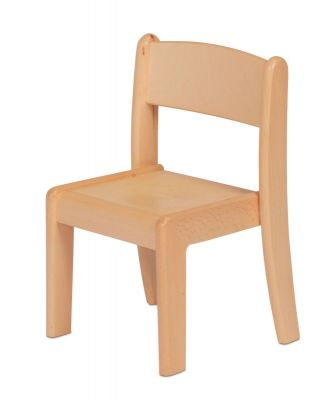 Millhouse Beech Stacking Chairs-Pack of 4