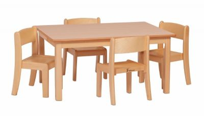 Millhouse Rectangle Wooden Table & Chair Sets
