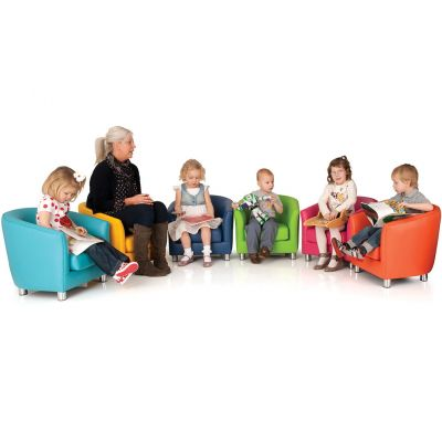 Kiddie Designer Single Tub Chairs-Wipe Clean Vinyl