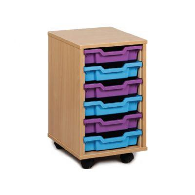 Single Column Tray Storage (optional doors)