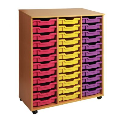 Triple Column Storage Unit