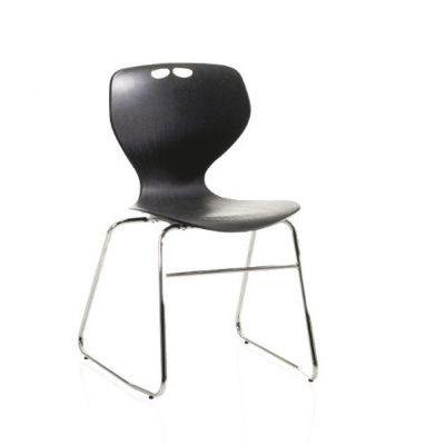 Mata Silver Frame Skid Base Chair