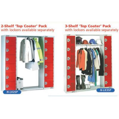 2 Or 3 Shelf 'Top Coater' Pack