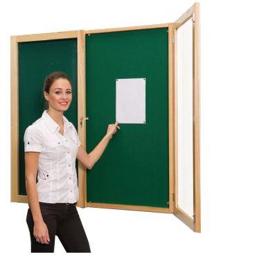 Decorative Wood Frame Tamperproof Noticeboard