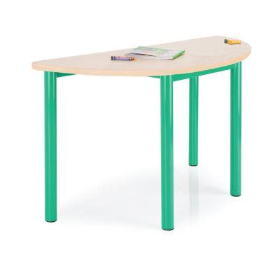 Premium MDF Semi-circular Classroom Table - 50mm Frame