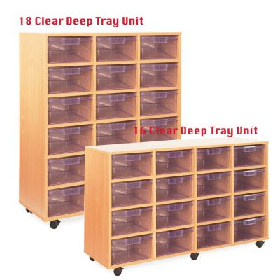Crystal Clear Variety Tray Storage