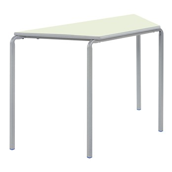 Newport Sprayed PU Trapezoidal Classroom Table - Crush Bent