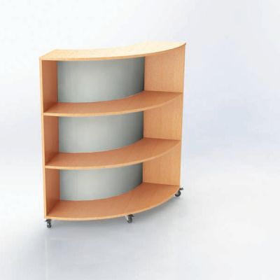 Nexus 835mm Deep Curved Bookcases