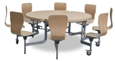Spaceright Primo Round Mobile Canteen Folding Table