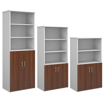 Combination Units with Wood Doors and Open Tops