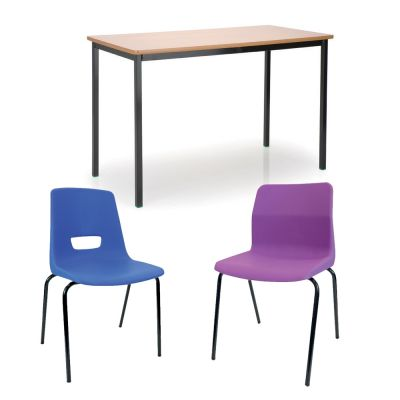 All Schools Pack 2 (15 PU Edge Tables & 30 x P3 or P6 Chairs)