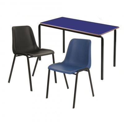 Secondary School Pack 2 (15 x PU Edge tables & 30 x Poly chairs)