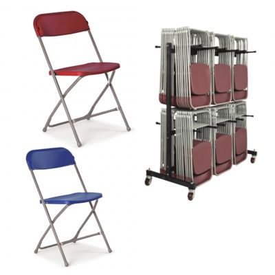 Pack 5 (Fold Flat Chairs & Trolley)
