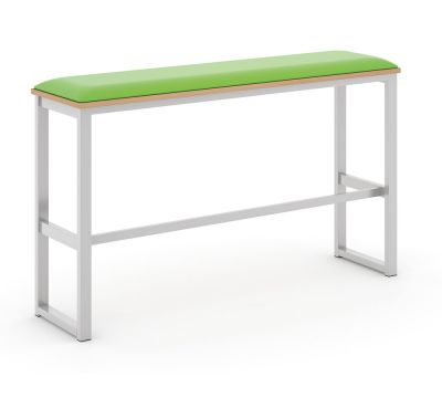 Otto Poseur High Bench with Upholstered Seat Pad