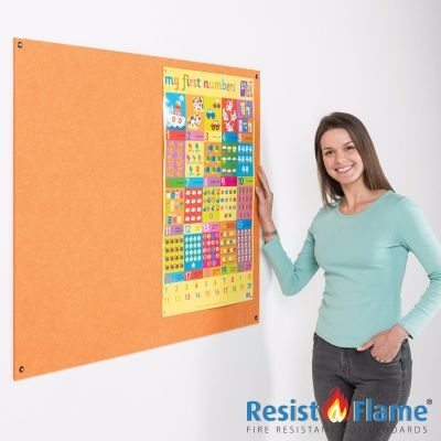 Eco-Colour Resist-a-Flame Unframed NoticeBoards