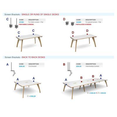 Screen Brackets for Fuze Desks