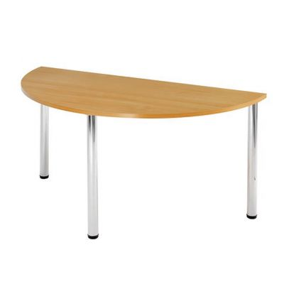 Semi Circular Chrome Leg Flexi Meeting Table