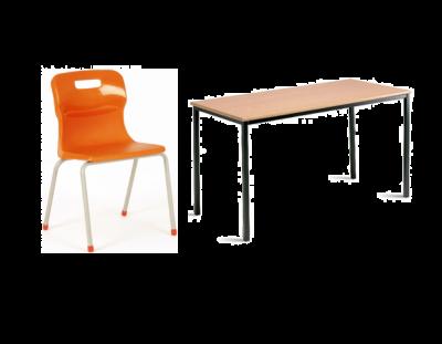 Package 3 (15x MDF Tables & 30x Titan 4 Leg Chairs)
