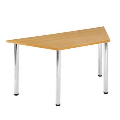 Trapezodial Chrome Leg Flexi Meeting Table