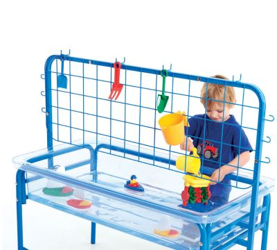 Water Play Clear Tray with Blue Stand