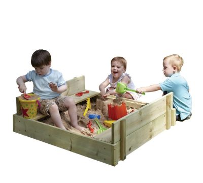 Wooden Lipped Sandpit