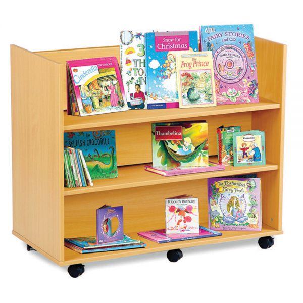 3 Horizontal Shelves each side