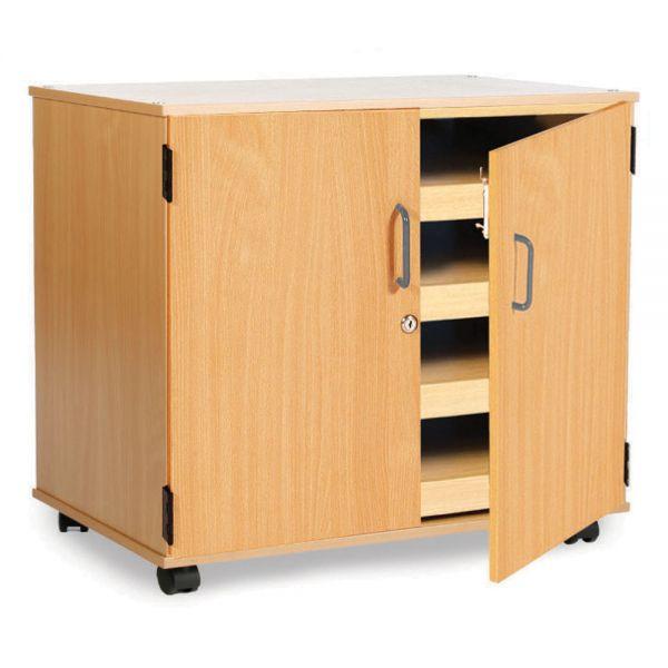 4 Draw Art Storage with Doors