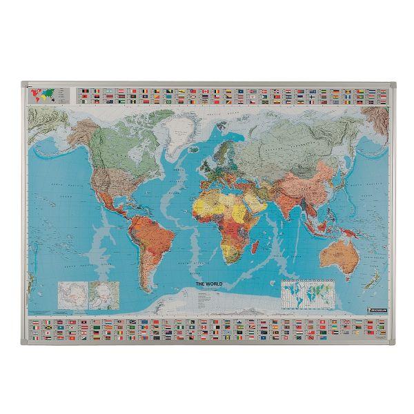 Framed Drywipe Map