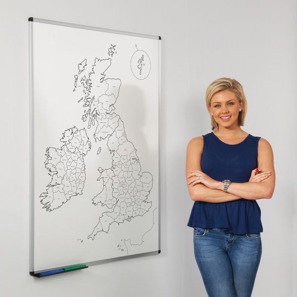 Magnetic Outline UK County Map
