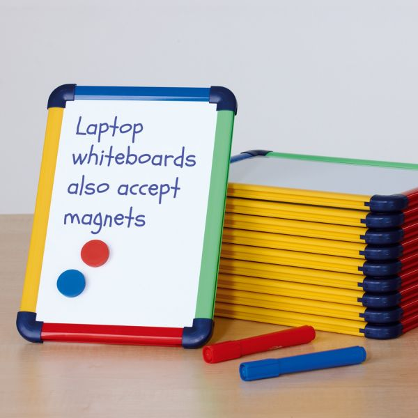 Coloured Frame Laptop Whiteboard - Pack of 10