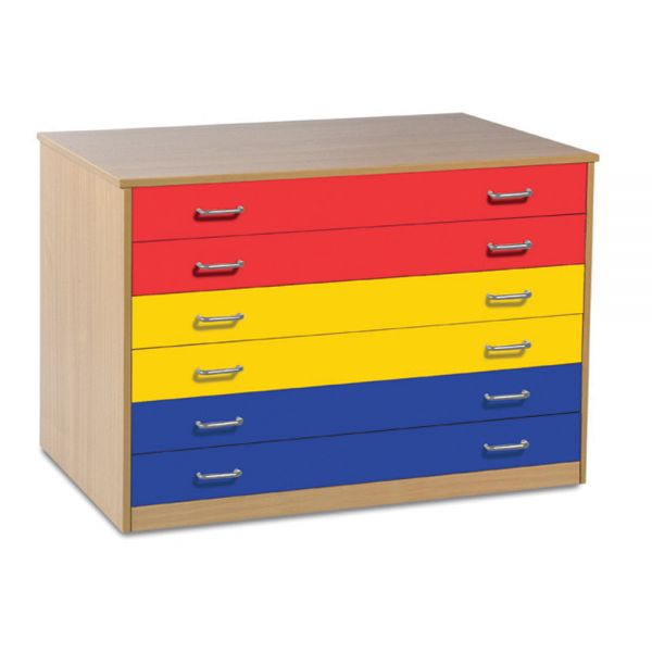 6 Draw Multi Coloured Storage