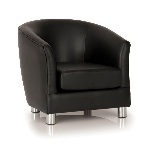 black designer tub chair