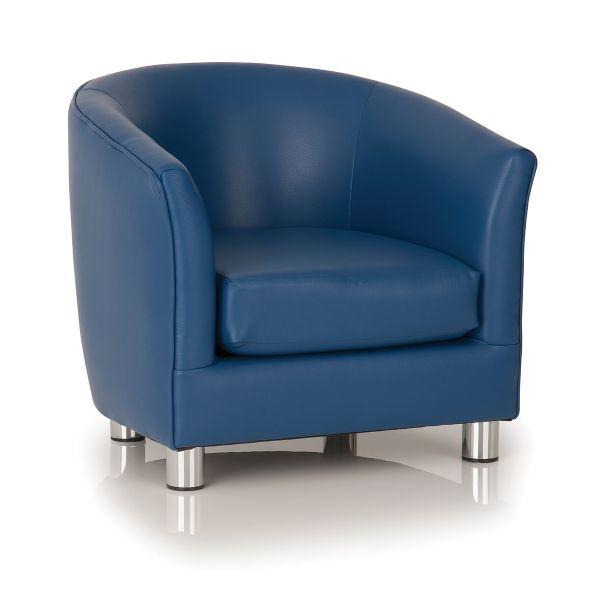 blue designer tub chair