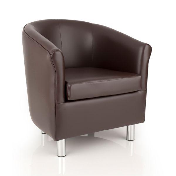 brown designer tub chair