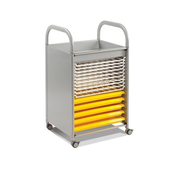 Callero Art Storage Trolley with Drying Racks and Trays