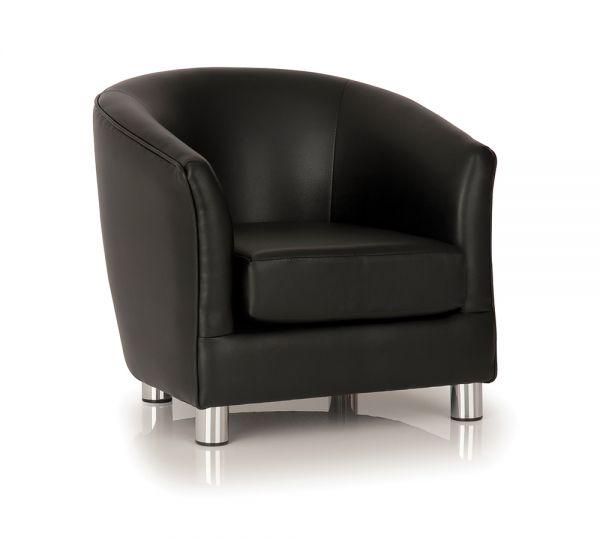 Tub Chair Black