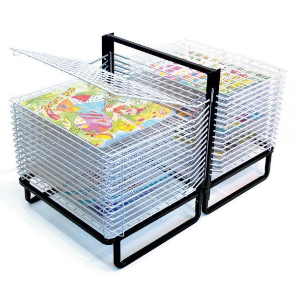Spring Loaded Floor Drying Racks 30 Shelf