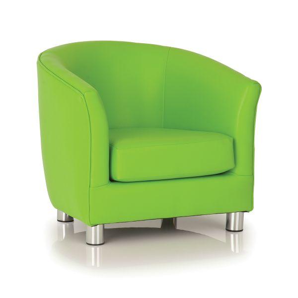 lime designer tub chair