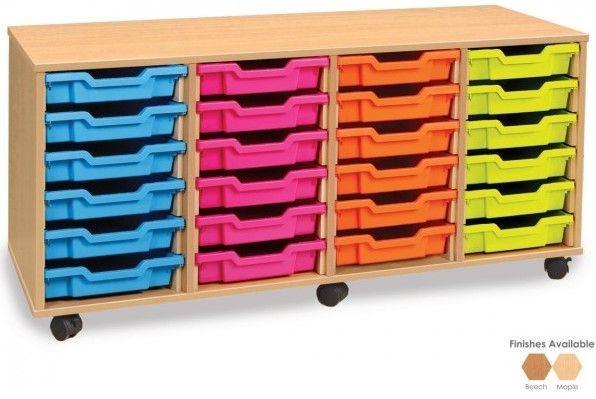 24 Shallow Tray Storage Unit
