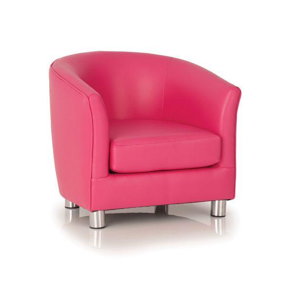 Kiddie Designer Single Tub Chair Flamingo Pink